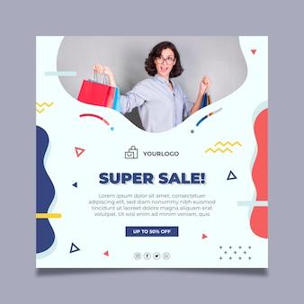 Sjabloon voor online winkelen folder