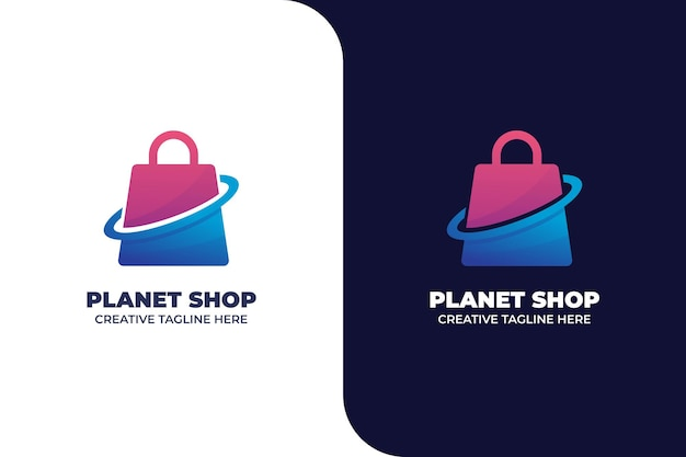 Sjabloon voor online winkelen met verlooplogo