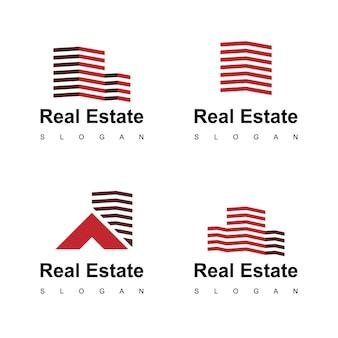 Sjabloon voor onroerend goed logo