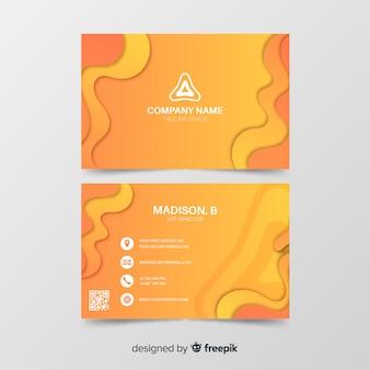 Sjabloon voor oranje abstracte visitekaartjes