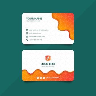 Sjabloon voor oranje golf visitekaartjes
