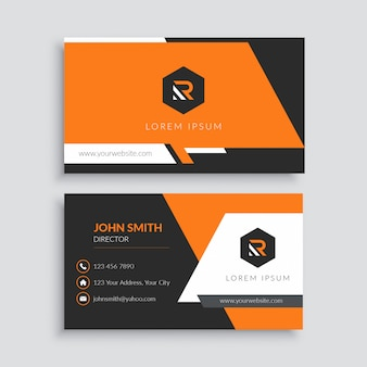Sjabloon voor oranje professionele visitekaartjes
