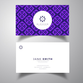 Sjabloon voor paarse luxe visitekaartjes