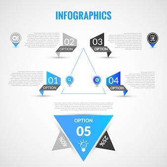 Sjabloon voor papieren infographics