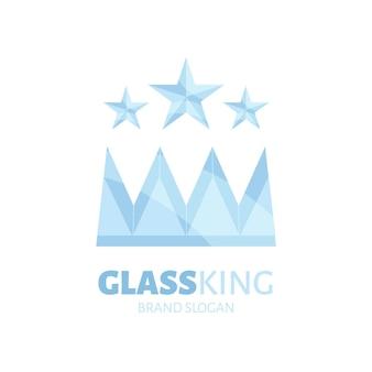 Sjabloon voor plat glas logo