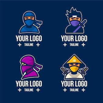 Sjabloon voor plat ninja-logo