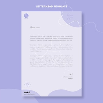 Sjabloon voor plat wetenschappelijk briefpapier