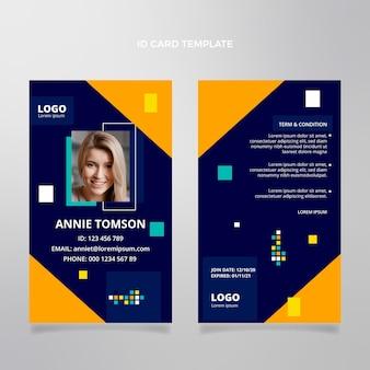 Sjabloon voor platte abstracte geometrische identiteitskaart voor onroerend goed