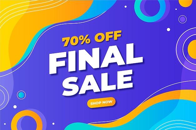 Sjabloon voor platte abstracte verkoop horizontale banner