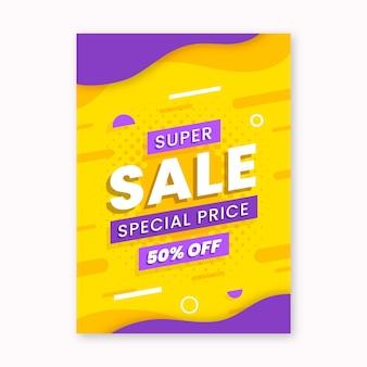 Sjabloon voor platte abstracte verticale verkoopposter