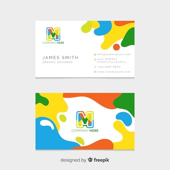 Sjabloon voor platte abstracte visitekaartjes