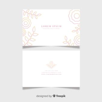 Sjabloon voor platte bloemen visitekaartjes