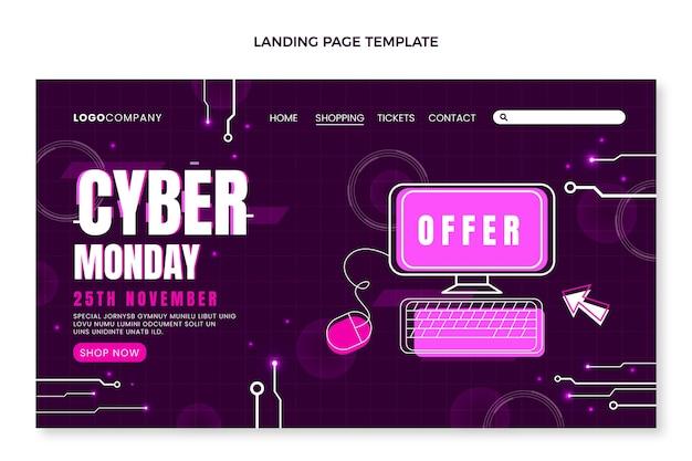 Sjabloon voor platte cyber maandag-bestemmingspagina