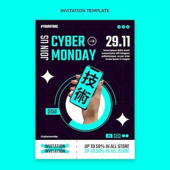 Sjabloon voor platte cyber maandag-uitnodiging