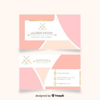 Sjabloon voor platte elegante visitekaartjes
