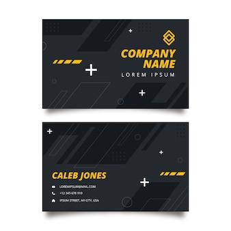 Sjabloon voor platte fitness dubbelzijdige visitekaartjes