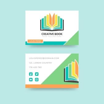 Sjabloon voor platte horizontale visitekaartjes