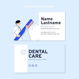 Sjabloon voor platte medische horizontale visitekaartjes