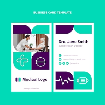 Sjabloon voor platte medische verticale visitekaartjes
