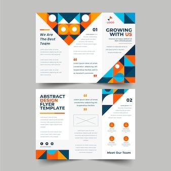 Sjabloon voor platte mozaïek driebladige brochure Gratis Vector