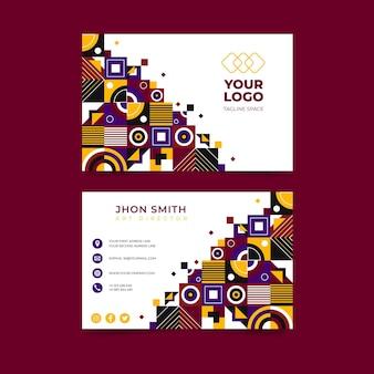 Sjabloon voor platte mozaïek horizontale visitekaartjes