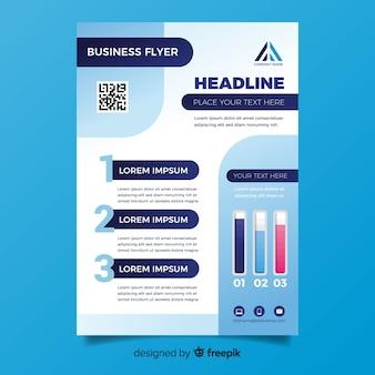 Sjabloon voor platte ontwerp business flyer
