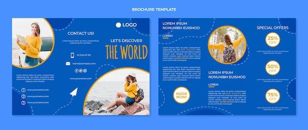 Sjabloon voor platte reisbrochures