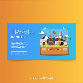 Sjabloon voor platte reisjournaal