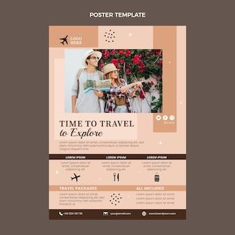Sjabloon voor platte reisposters