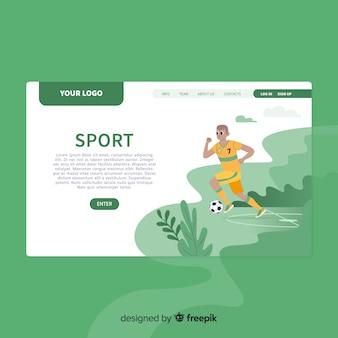 Sjabloon voor platte sportlandingspagina's