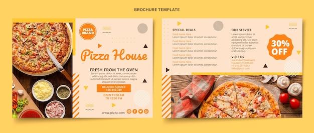 Sjabloon voor platte voedselbrochures