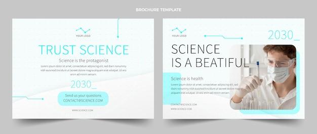 Sjabloon voor platte wetenschappelijke brochure