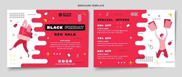 Sjabloon voor platte zwarte vrijdag-brochure