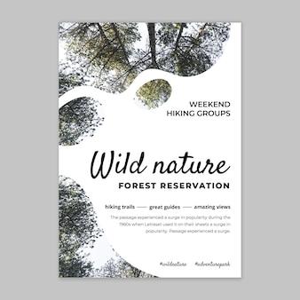Sjabloon voor poster met wilde natuur