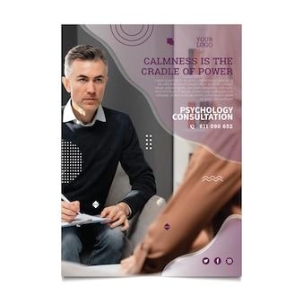 Sjabloon voor poster over psychologie consult