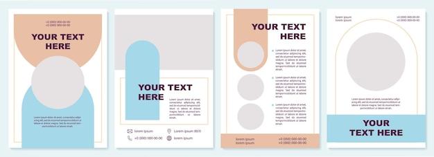 Sjabloon voor productpromotiebrochure. bedrijfs benodigdheden. flyer, boekje, folder afdrukken, omslagontwerp met kopieerruimte. jouw tekst hier. vectorlay-outs voor tijdschriften, jaarverslagen, reclameposters