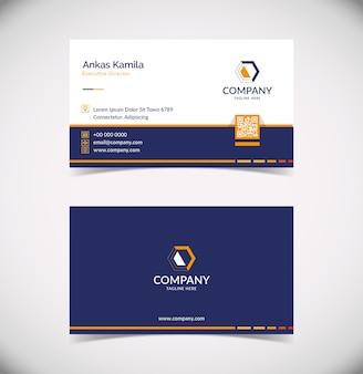 Sjabloon voor professionele en moderne zakelijke visitekaartjes