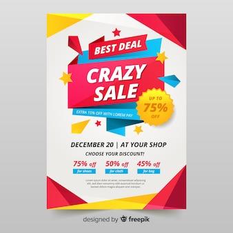 Sjabloon voor professionele verkoop flyer