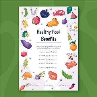 Sjabloon voor promotie van gezonde voeding