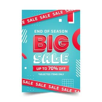 Sjabloon voor realistische abstracte verticale verkoopposters