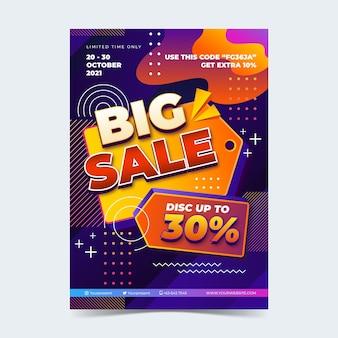 Sjabloon voor realistische verticale verkoopposters