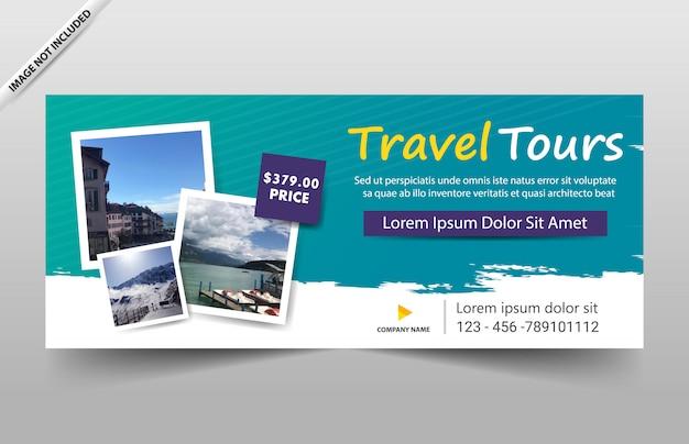 Sjabloon voor reizen rondleidingen banner voor website en voucher