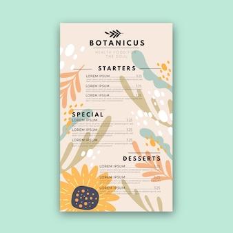 Sjabloon voor restaurant menu concept