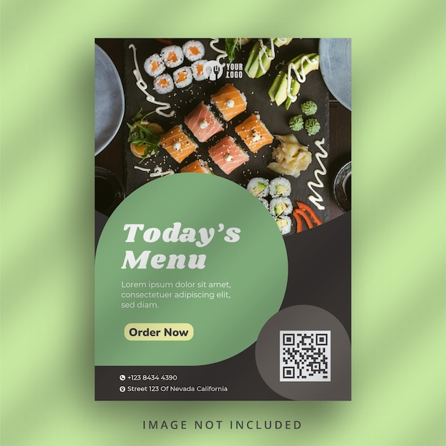 Sjabloon voor restaurantflyer
