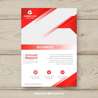 Sjabloon voor rode business flyer
