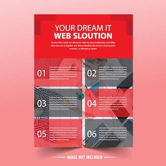 Sjabloon voor rode business flyer