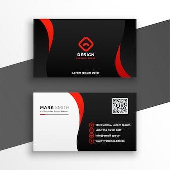 Sjabloon voor rode en zwarte moderne visitekaartjes