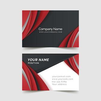 Sjabloon voor rode visitekaartjes