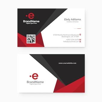 Sjabloon voor schone en moderne zakelijke visitekaartjes