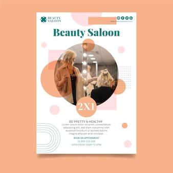 Sjabloon voor schoonheidssalon-poster